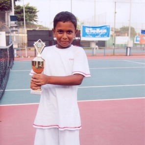 A 6-year-old Terence already knew how to win!